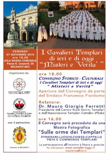 I Cavalieri Templari di ieri e di oggi