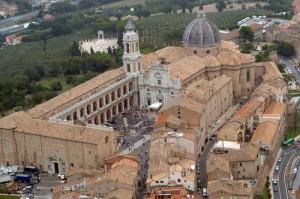 Veduta aerea di Loreto (ANSA/CRISTIANO CHIODI/DRN)
