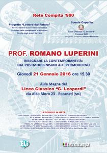 Romano Luperini a Recanati