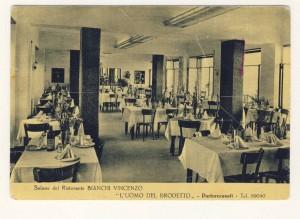 Il ristorante Vincenzo Bianchi negli anni '50 (foto collezione Giuseppe Riccetti)