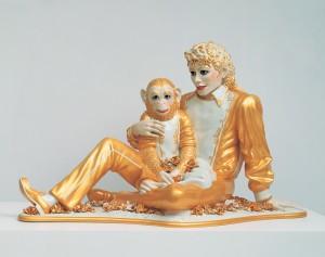 Michael Jackson and Bubbles (Jeff Koons 1988)