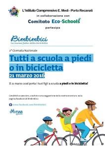 Tutti a scuola a piedi o in bicicletta