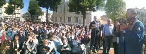 Matteo Salvini a Porto Recanati (Facebook)