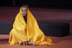 "(ANSA) - ANCONA, 7 MAG - Teatro: ""Battlefield"" di Peter Brook."