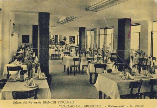 1-Il ristorante Vincenzo Bianchi negli anni '50. Foto  collezione  Giuseppe Riccetti
