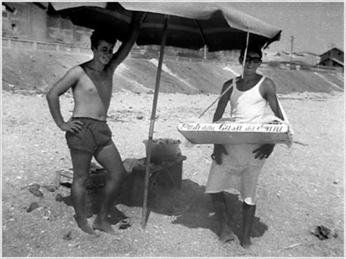 Metà anni '60 Mimmo Palanca e Giuseppe Grilli (Peppetto) - foto portorecanatesi.it