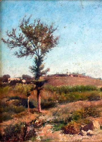 1-Silvestro Lega-Paesaggio Toscano