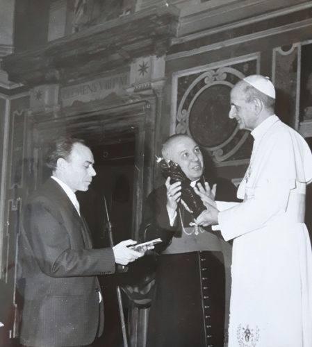 Augusto Castellani con Papa Paolo VI
