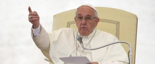Nella foto papa Francesco