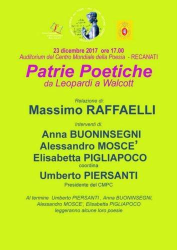 1-CMP Patrie poetiche 23 dicembre 2017 manifesto