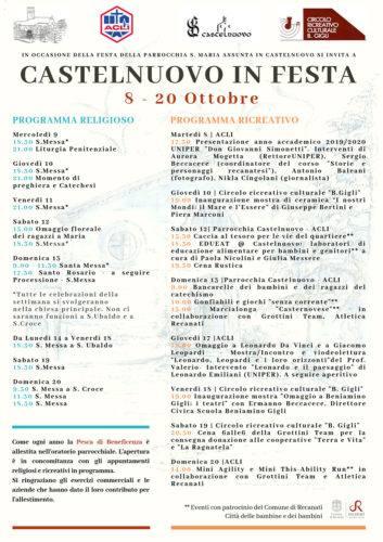 Castelnuovo-in-festa 8-20 ottobre 2019