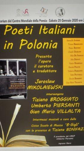 Locandina Poeti Italiani in Polonia