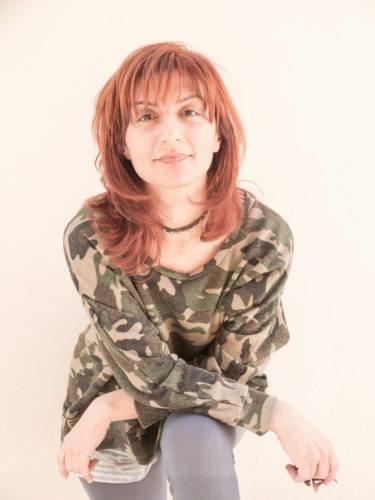Rieti 18 maggio 2013. Renata Morresi, poetessa e saggsta, ritratta a Rieti nei pressi di largo San Giorgio durante l'incontro di Poesia 13. Foto: RINO BIANCHI