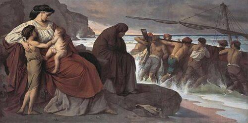 Medea e gli argonauti di Anselm Feurbach, 1870 - foto WIKIPEDIA