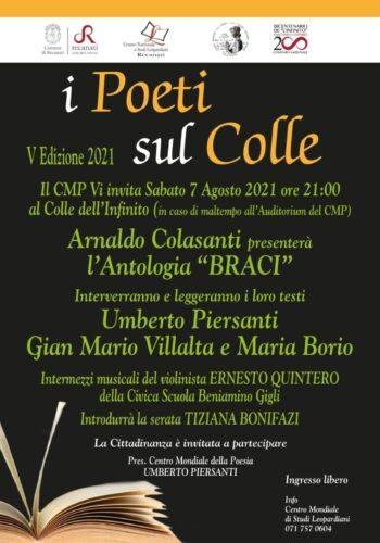 Poeti sul Colle 2021