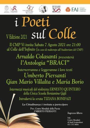 locandina recital Poeti sul Colle 2021